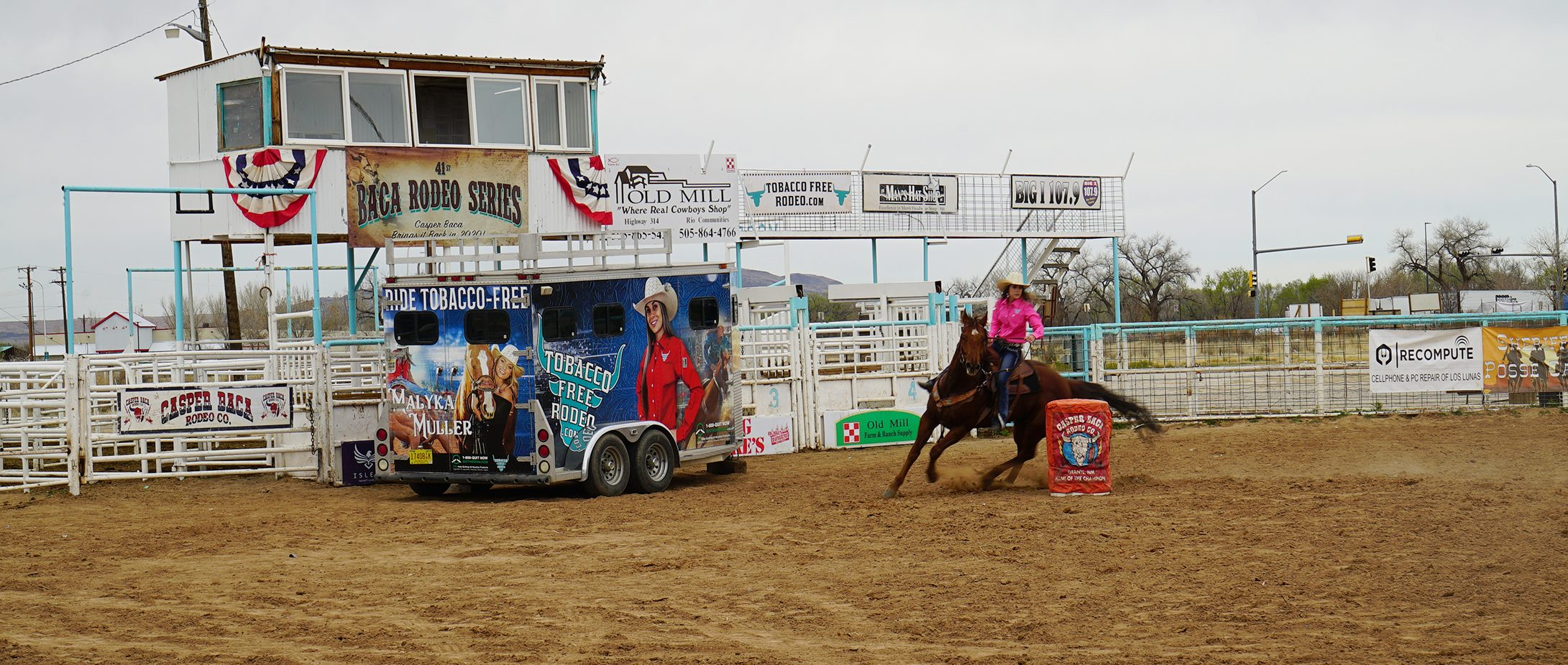 horse rider at rodeo